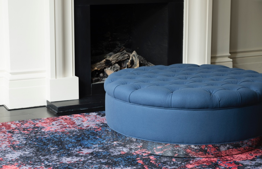 cosmos | credit: talisman london - deep buttoned ottoman by talisman bespoke, talisman 79-91 new kings road, sw6 4sq | www.talismanlondon.com