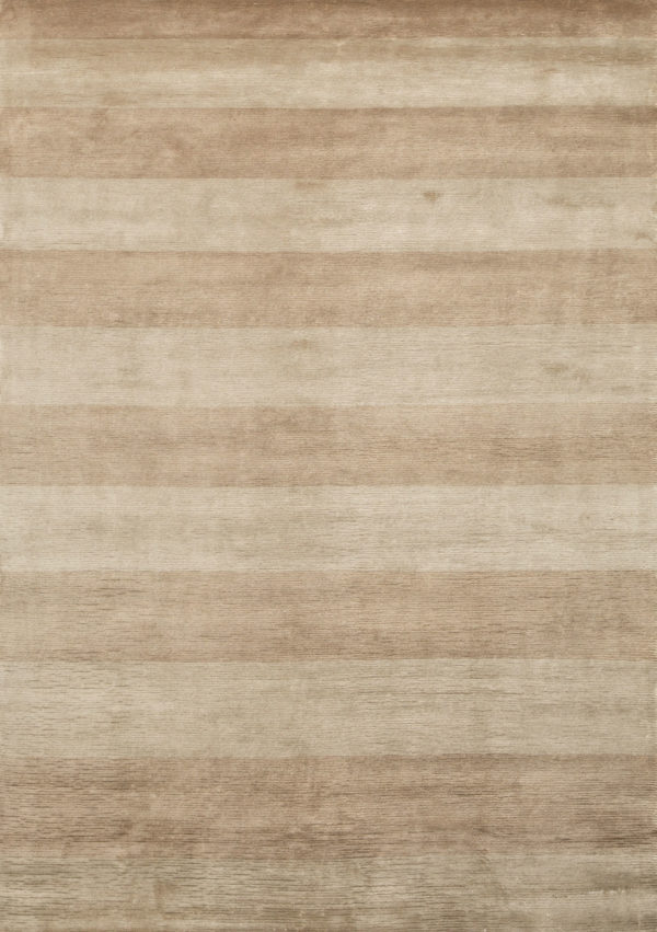 Art Silk Beige Stripes Rug