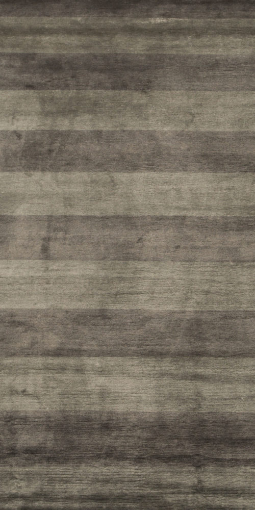 Art Silk Grey Stripes Rug