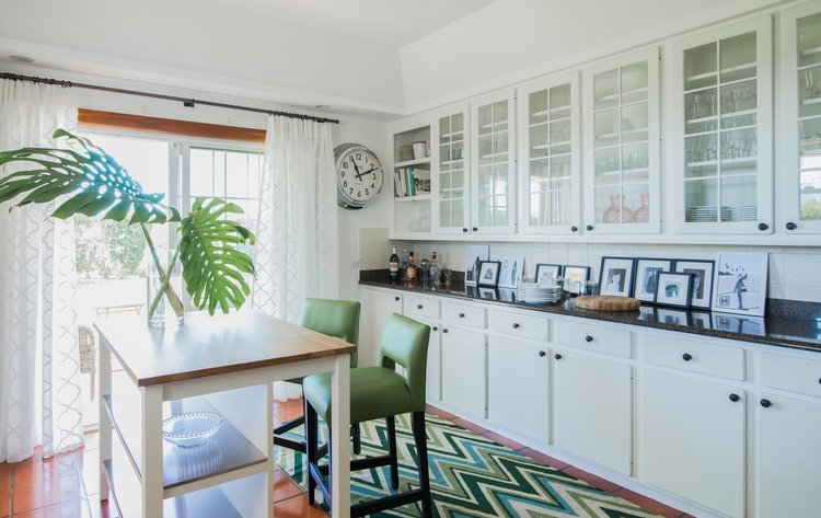 Green Zig Zags, Credit: Anna Standish Interiors